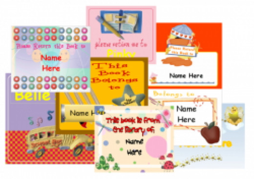 Book labels for Children