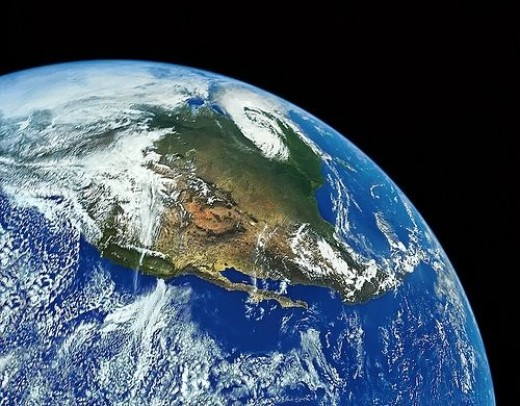 Big blue marble, planet earth photo restored by eraphernalia_vintage, flickr.com