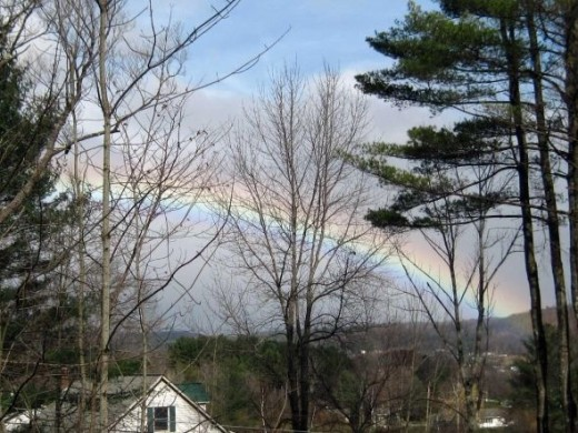 Rainbow over the Green Mountains of Vermont
