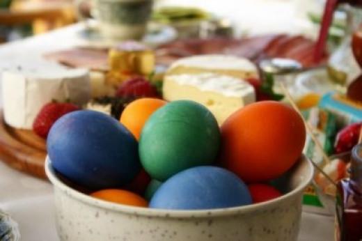 Freshly Dyed Easter Eggs