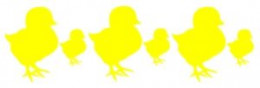 Yellow Peep Border Graphic - right click to save for use on any nocommercial projecct