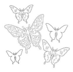 Butterfly coloring page printable, Pastiche Family Portal