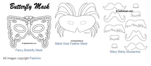 Fancy  mask printable templates
