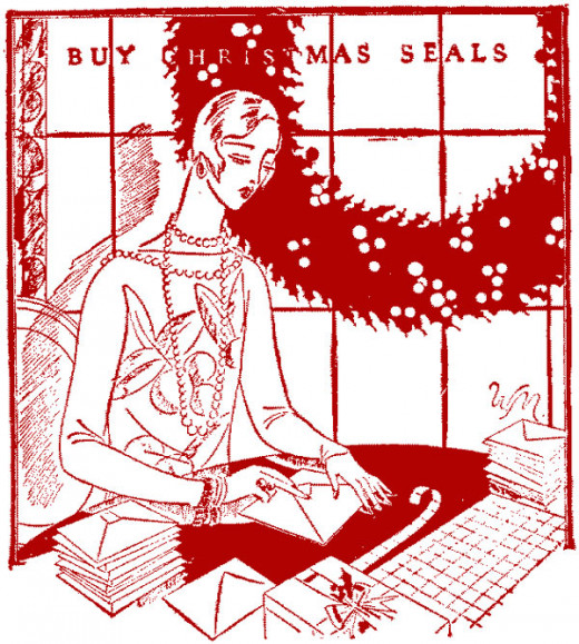 Vintage  Christmas Seal Promotional Advertising