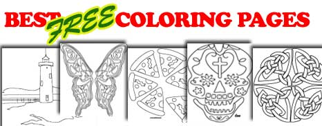 Original, entertaining, coloring pages for all ages