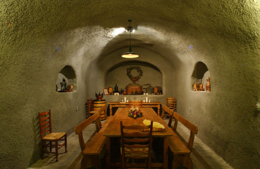 A Cave Dinner setting