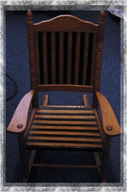 A child's chair that's over a hundred years old? Awesome!