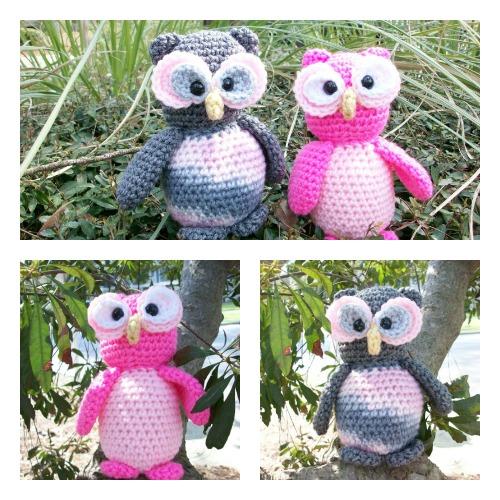 Pink & Grey Owls