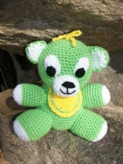 Baby Teddy Bear in Crochet