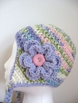 Earflap Hat for Baby Girl