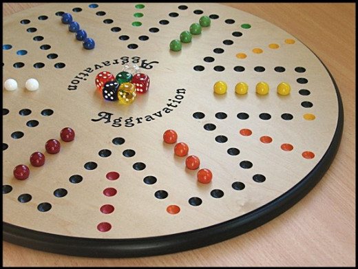 Handmade wooden AGGRAVATION game