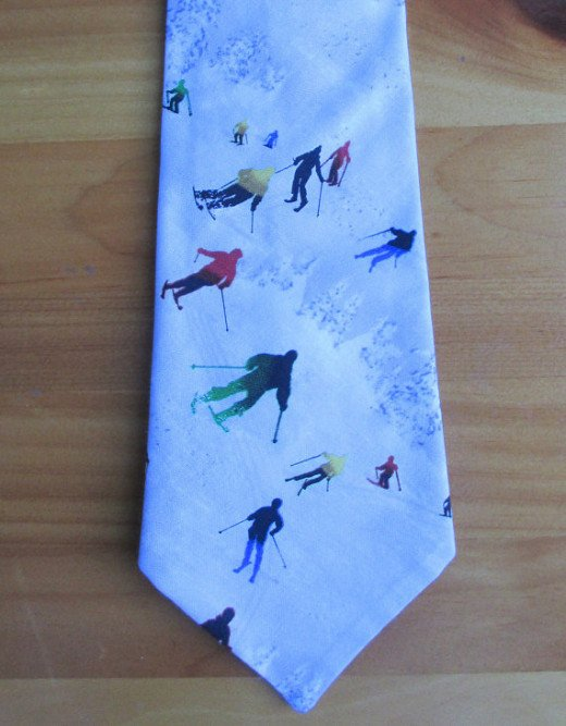 Winter Skiing Necktie