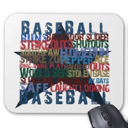 Baseball Star Mousepad