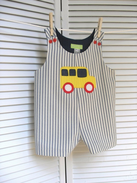 School Bus Romper