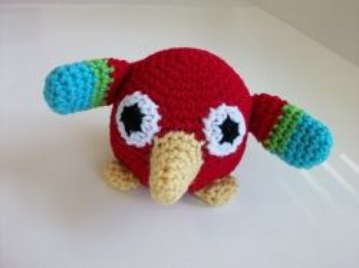 Roly Poly Plush Parrot