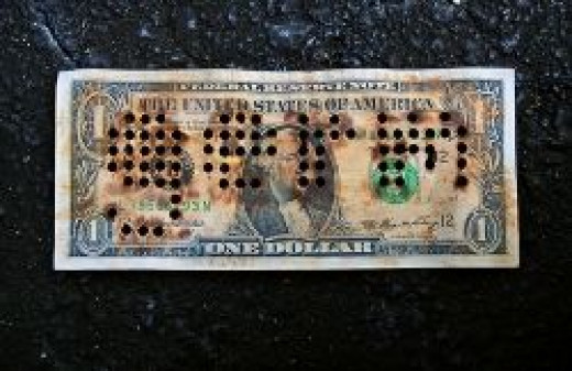 Germs on Dollar Bills