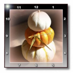 Wall Clocks for Harvest Time, Halloween and Thanksgiving