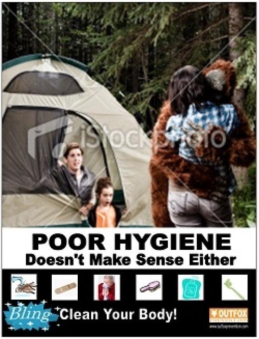 OUTFOX Prevention Poster Bigfoot Kissing Mom