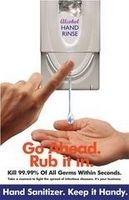 OUTFOX Go Ahead Rub It In Hand Sanitizer Poster