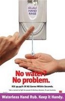 No Water? No Problem. Infection Control Poster OUTFOX Prevention