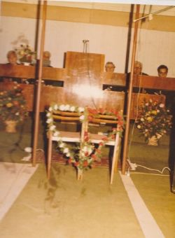 Church Setup for Our Wedding