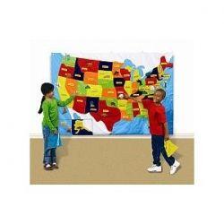 US felt map