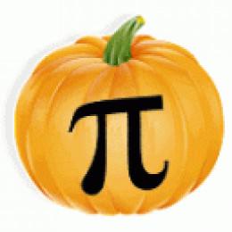 Pumpkin Pi - Math Pi pumpkin - pi jack o'lantern