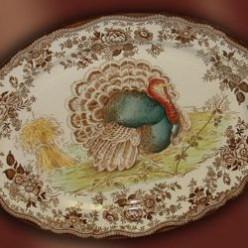 Vintage Turkey Platters