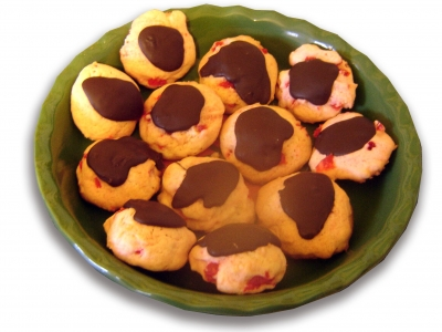 Chocolate Topped Cherry Cookies