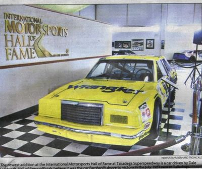 Here Is A Photo Of The Car The Museum Says Is The Winning Earnhardt Car (photo from the Bham News)