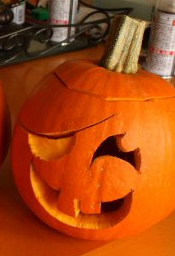 Small Jack-o-Lantern cut from the top