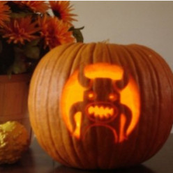 Squid Bull Monster Jack-o-Lantern