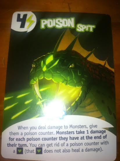 My favourite card - purchase for 4 money or lightening - Poison spit!