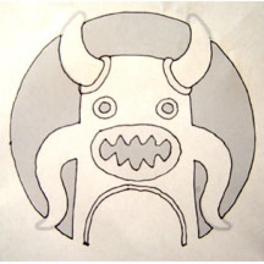 Squid-o-lantern pattern