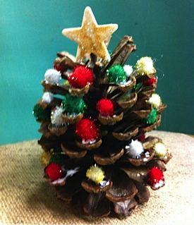 Pinecone Christmas Tree Craft for Children