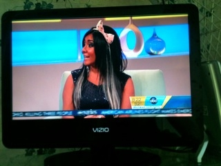 "Snooki on GMA--Big Bow Headband--another ""look' for your costume. That is the only way I would wear one of these!"