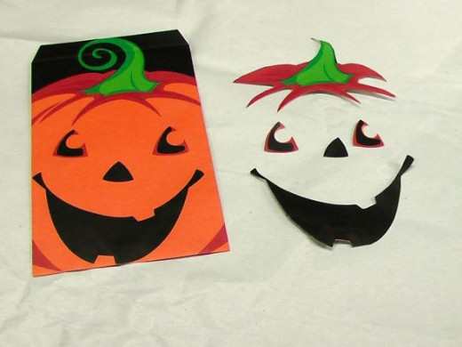 Jackolantern Trick or Treat Bag that I used to make my candle holder/votive.