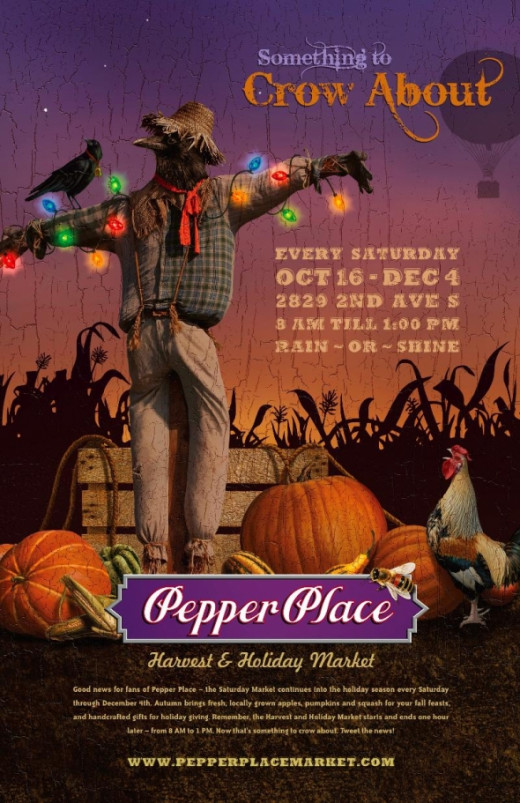 Pepper Place Harvest and Saturday Market Poster