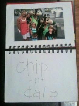 Disney Memories inside the autograph book!