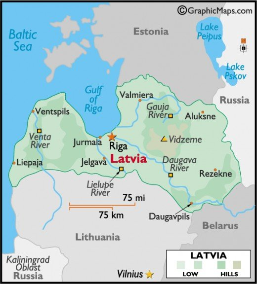 A map of Riga, Lativa