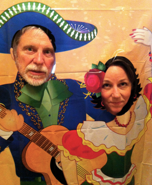 This photo of my husband and me at our Cinco De Mayo Party may not be copied or used--ever!