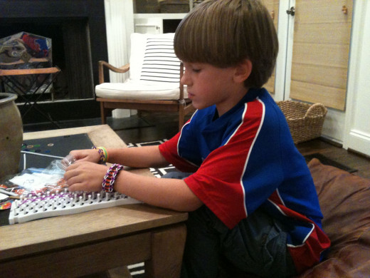 My grandson is a bracelet master! Mickie_G - all rights reserved