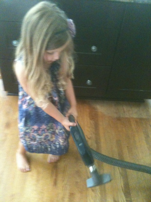 I put the brush attachment on the vacuum for my baby.