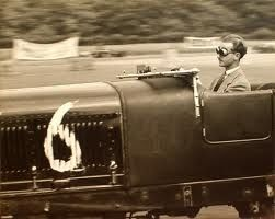 Pierre Marchal racing his McKenzie-modified Bentley Speed Six at Gransden Lodge, England, 1947