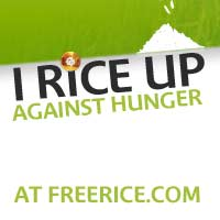 the avatar that you can download in the site and spread the word about Free Rice.