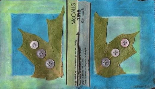 Autum Maple Leaf Collage