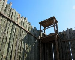 One of the guard towers at Andersonville Prison.