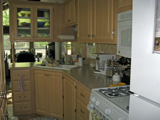 kitchen of the Park Model for Sale
