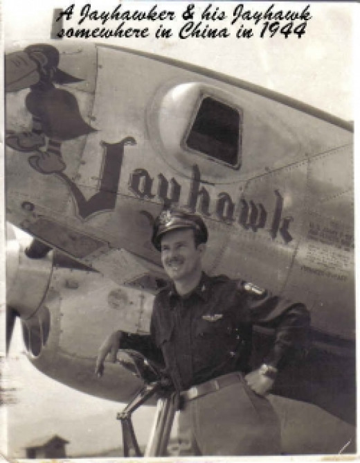 My uncle, Ralph Martin with his airplane.